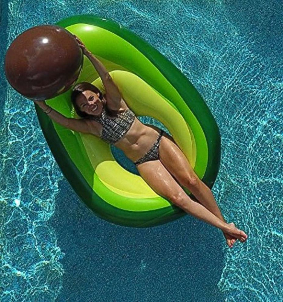 PHOTO: An avocado pool float with a beach ball pit is for sale on Amazon for $39.99.