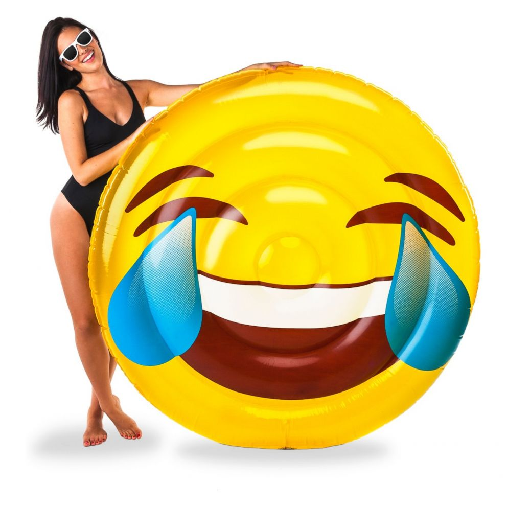 PHOTO: A laughing emoji pool float is for sale on Target.com for just over $23.