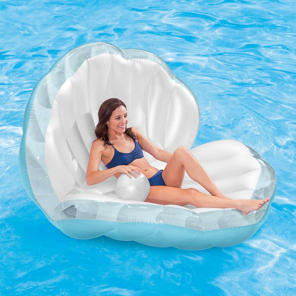 PHOTO: A seashell pool float with an inflatable pearl is for sale on Walmart.com for just over $26.