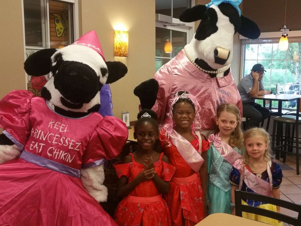 PHOTO: The children were gifted princess gowns and had meet-and-greets with Disney princesses during the Aug. 4 event.