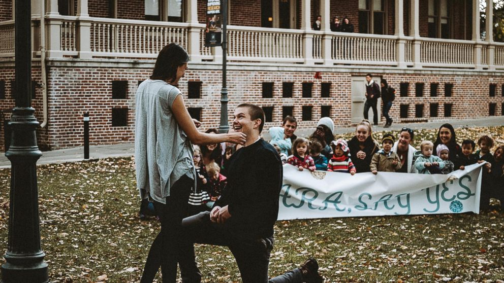 Dallin Knecht proposed to preschool teacher Sara Trigero with the help of her beloved students on Nov. 3 in Reno, Nevada.