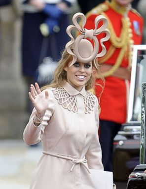 PHOTO: Princess Beatrice departs the Royal Wedding of Prince William to Catherine Middleton at Westminster Abbey on April 29, 2011 in London.