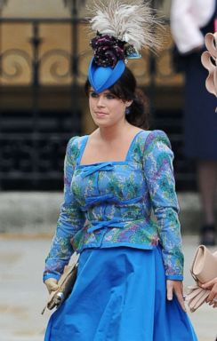 PHOTO: Princess Eugenie of York arrives to the Royal Wedding of Prince William to Catherine Middleton at Westminster Abbey on April 29, 2011 in London.