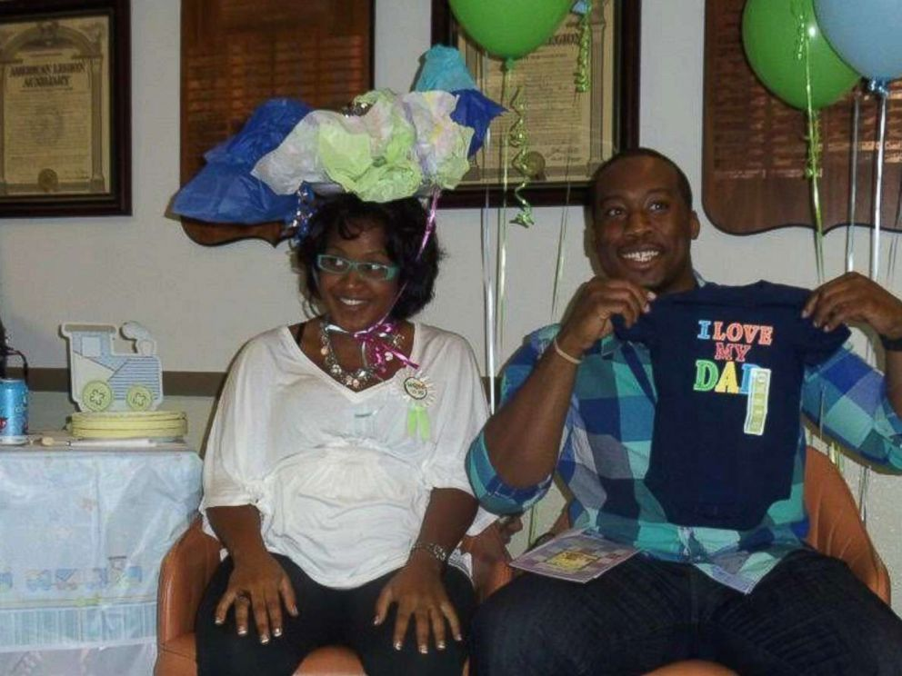 PHOTO: Robert and Nia Tolbert at their first baby shower back in 2011.