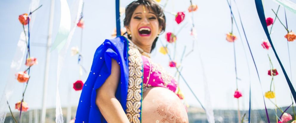 PHOTO: Majestic Indian Maternity Shoot Breaks Typical Belly-Exposing Boundaries