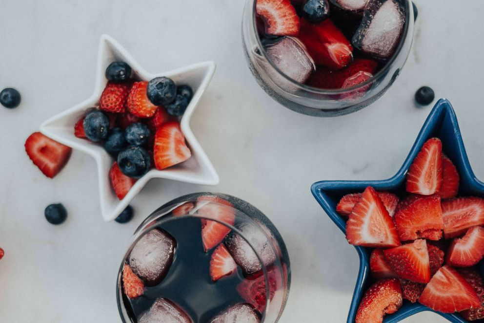 PHOTO: Red wine summer sangria perfect for a 4th of July party.