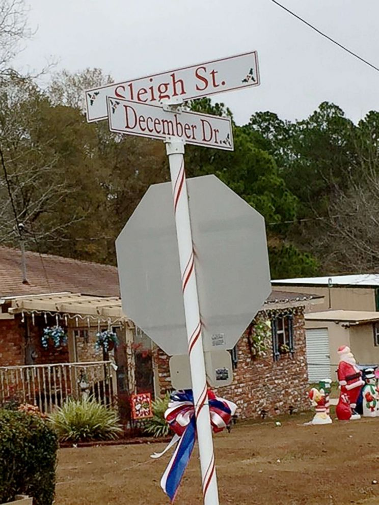 PHOTO: Street names in Santa Claus, Georgia, follow the Christmas theme.