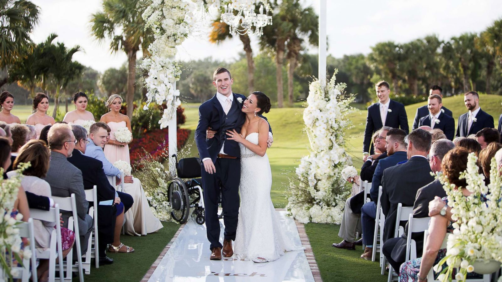 After 7 Years In Wheelchair Groom Walks Down Aisle On His