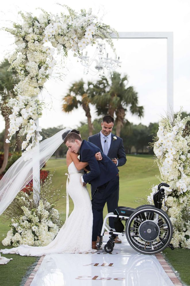 Photo Chris Norton And Emily Summers Standing Together As Newlyweds