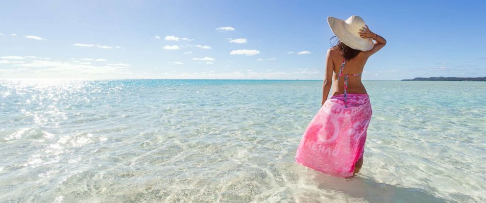 PHOTO: A woman wears a sarong on a beach in an undated stock photo.