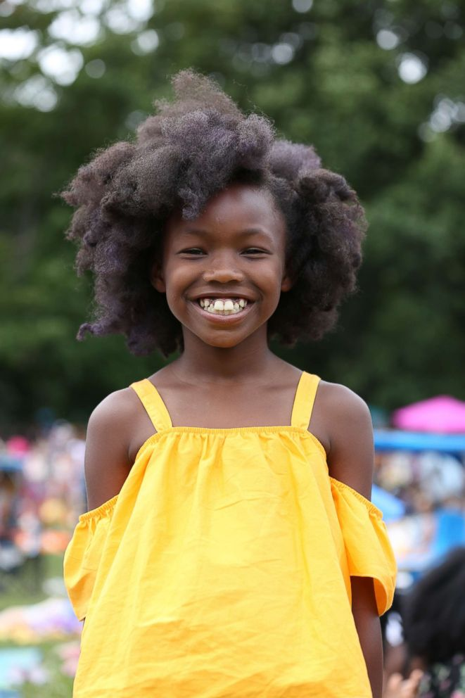 PHOTO: Senmeri, 9 years old, at Curlfest.