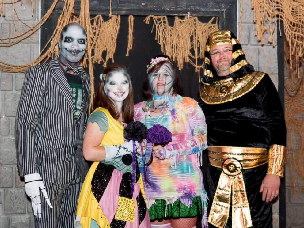 PHOTO: Shelby Waid-Johnson's mom and stepdad wed at Fright Fest 15 years ago, and renewed their vows on Friday the 13th.