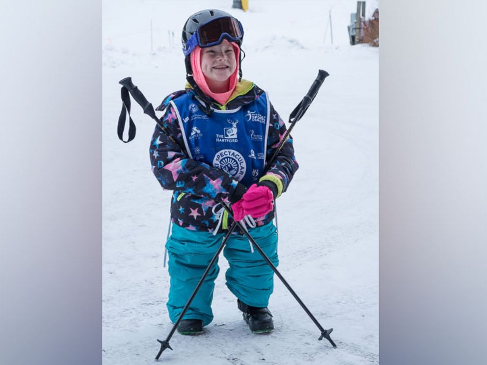 PHOTO: Lily Biagini, 10, a double amputee, learned to snowboard in Breckenridge, Colo.