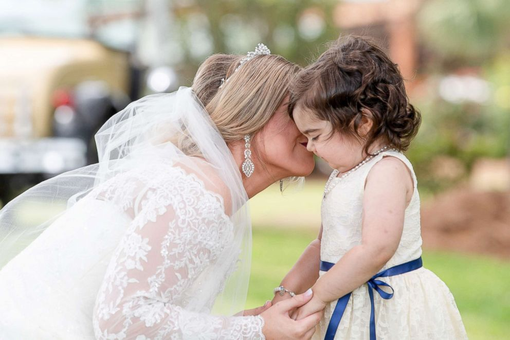 PHOTO: Skye Savren-McCormick, 3, seen with bride Hayden Hatfield Ryals on her wedding day, June 9, 2018.