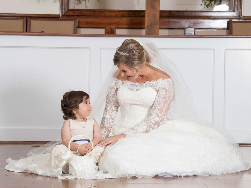 PHOTO: Skye Savren-McCormick, 3, served as the flower girl for bride Hayden Hatfield Ryals. Ryals, 26, was also Skyes bone marrow donor.