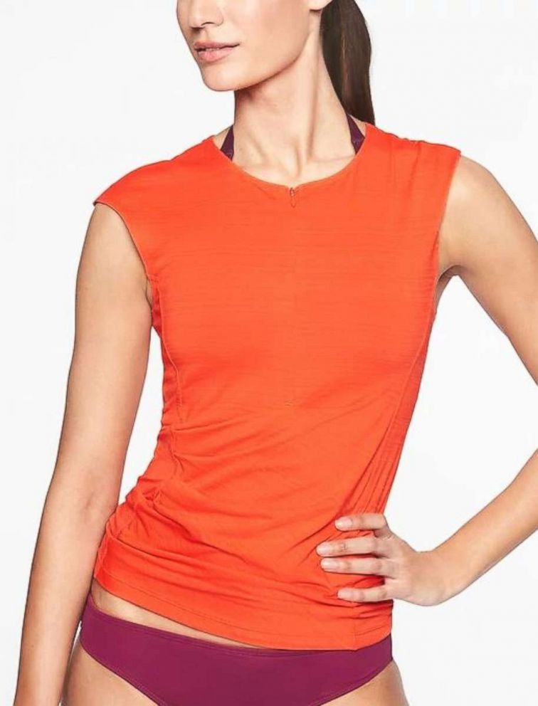 PHOTO: The pacifica wrap front tank by Athleta.