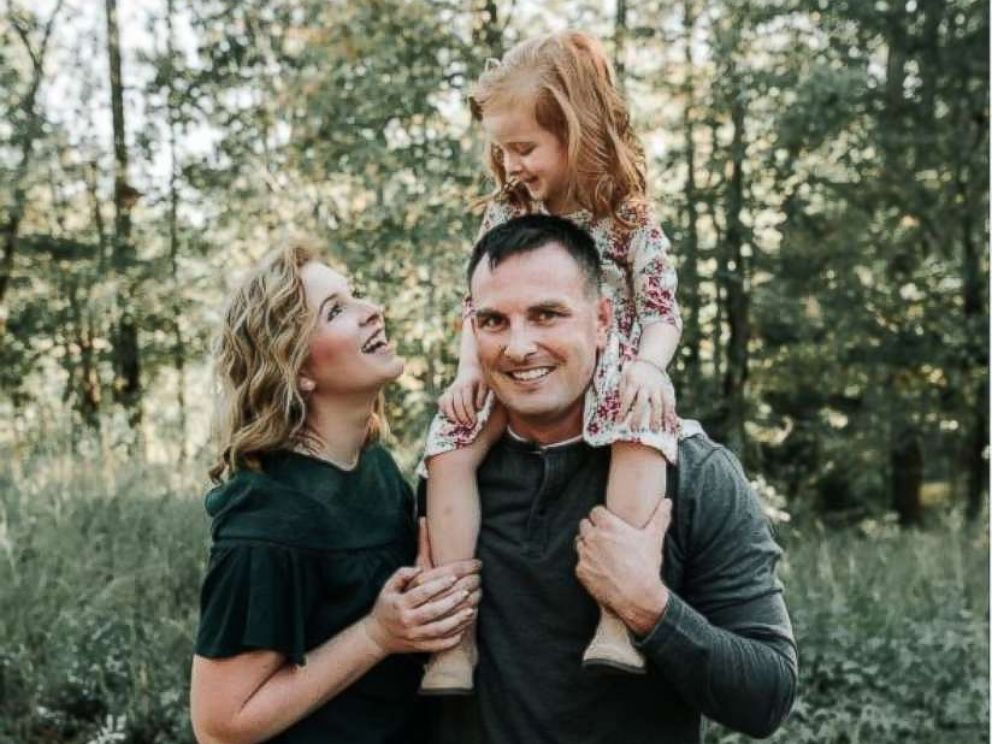 PHOTO: Andrew and Andrea Smith live in North Carolina with their daughter, Charlotte.