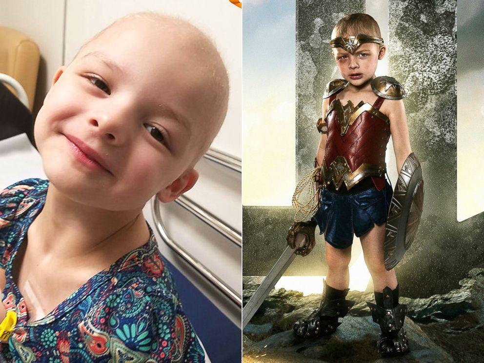 PHOTO: Sofie Loftus has a rare form of eye cancer called embryonal rhabdomyosarcoma. | Sofie Loftus as Wonder Woman