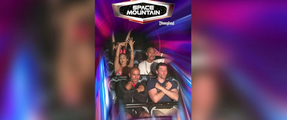 PHOTO: Sonni Vargas, 22, showed off her engagement ring on Disneylands Space Mountain ride.