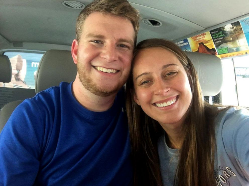 PHOTO: Newlyweds Taylor and Mikaela Flowers were surprised with a special wedding re-enactment aboard their Southwest Airlines flight to their Mexico honeymoon.