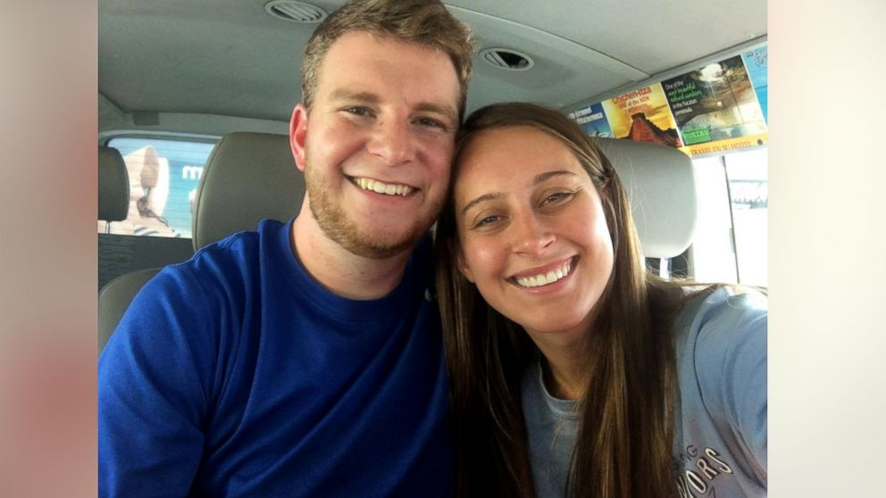Newlyweds Taylor and Mikaela Flowers were surprised with a special wedding re-enactment aboard their Southwest Airlines flight to their Mexico honeymoon.