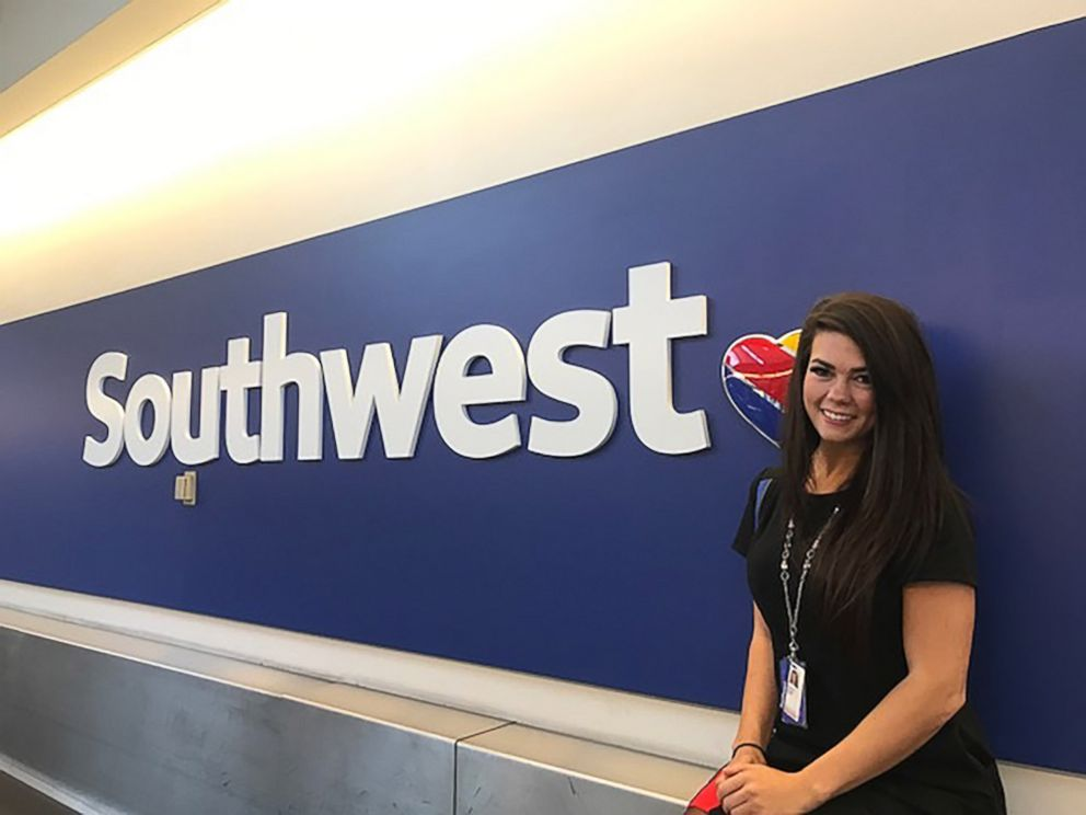 PHOTO: Southwest Airlines employee Sarah Rowan, 27, personally delivered luggage to a Southwest customer battling cancer.
