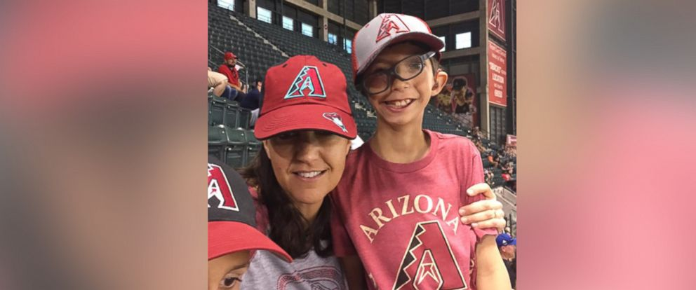 PHOTO: Stacey Gagnon is pictured with her 9-year-old son, Joel.