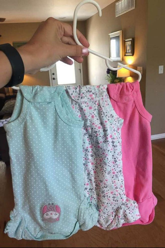 PHOTO: Stacy Augustyns onesie hack went viral on Facebook.