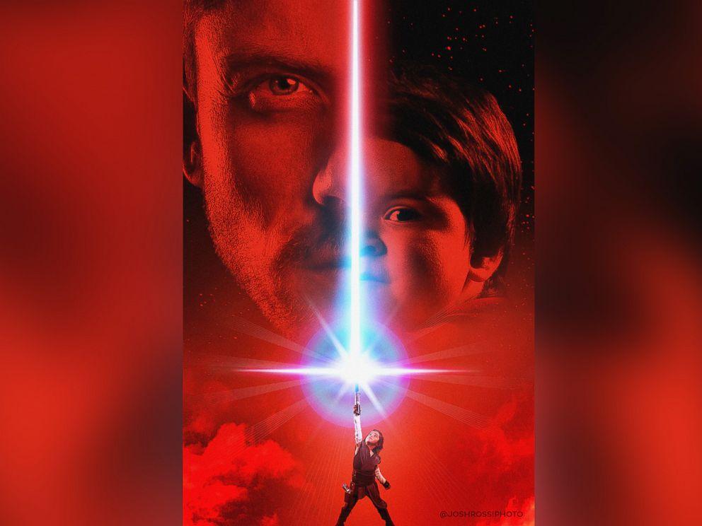 PHOTO: Josh Rossi and his son, Josh, 1, pose for an epic Jedi victory.