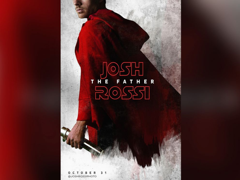 PHOTO: Josh The Father Rossi poses for his Star Wars-themed movie poster.