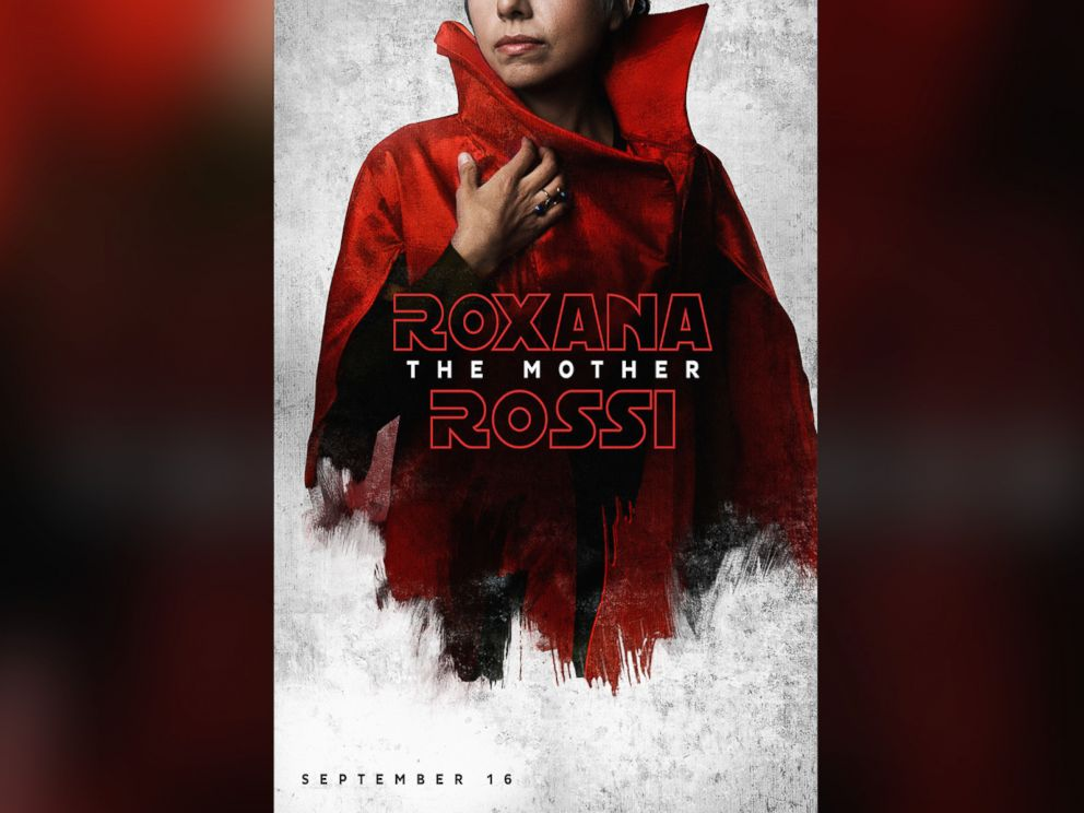 PHOTO: Roxana The Mother Rossi poses for her Star Wars-themed movie poster.