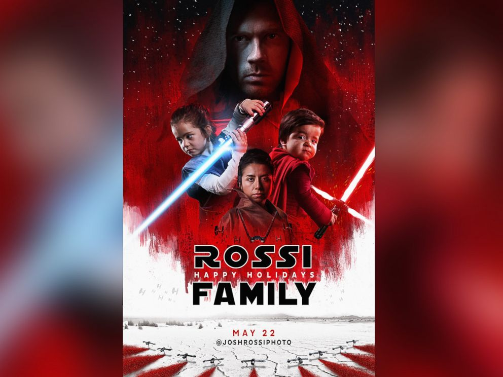 photo photographer josh rossi of salt lake city re created the last jedi movie - Star Wars Christmas Card