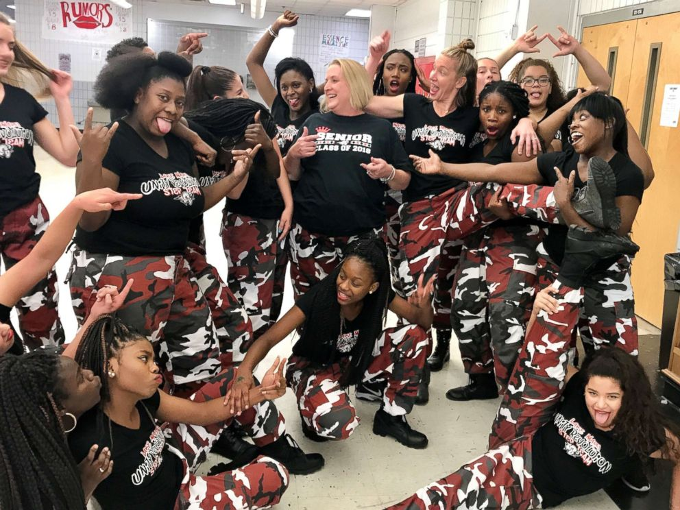 PHOTO: Lake Mary High Schools Unity Revolution STEP team celebrates after their pep rally performance on Nov. 3, 2017.