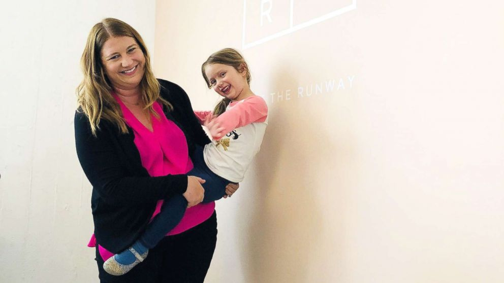 Stephanie Conduff poses with her daughter, Emerson Pearl, 4, who inspired her to found Leche Lounge.