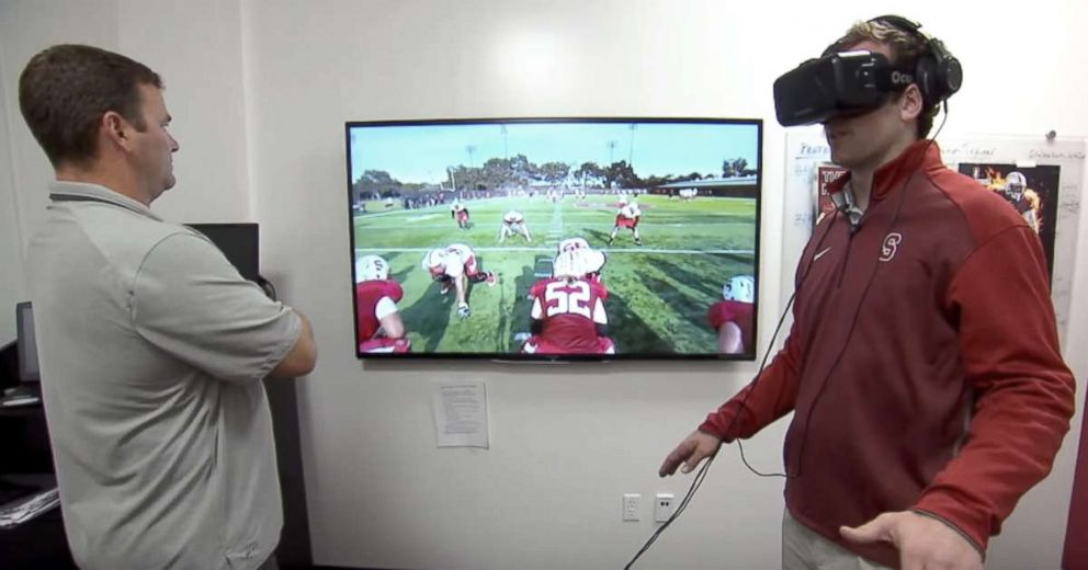 PHOTO: Strivrs virtual reality technology has been used by college and professional football teams.