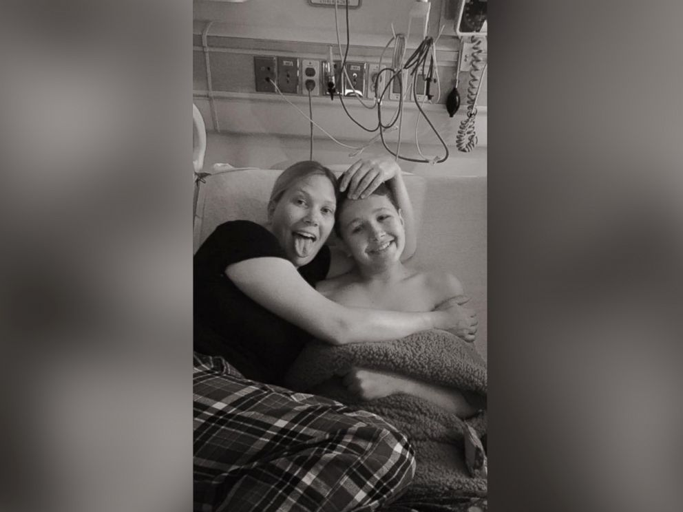 PHOTO: Sulley Menne, 15, seen in an undated photo with his mother, Mande Menne of Wentzville, Mo.