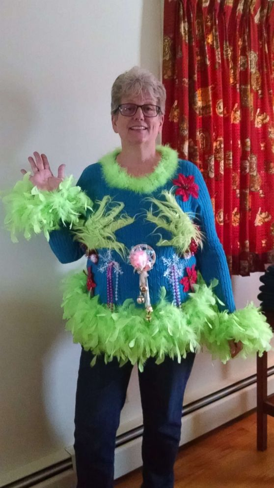 photo susan hinebaugh of liverpool ny said her sweater was inspired by one - How The Grinch Stole Christmas Sweater