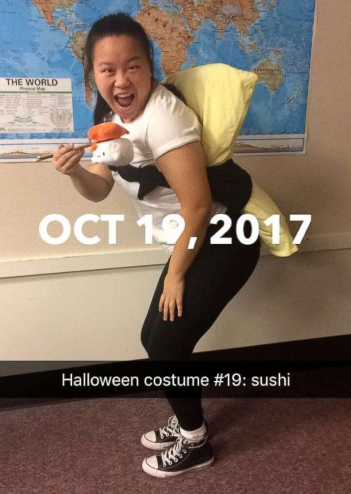 PHOTO: Molly Foote dressed as sushi on Oct. 19, 2017.