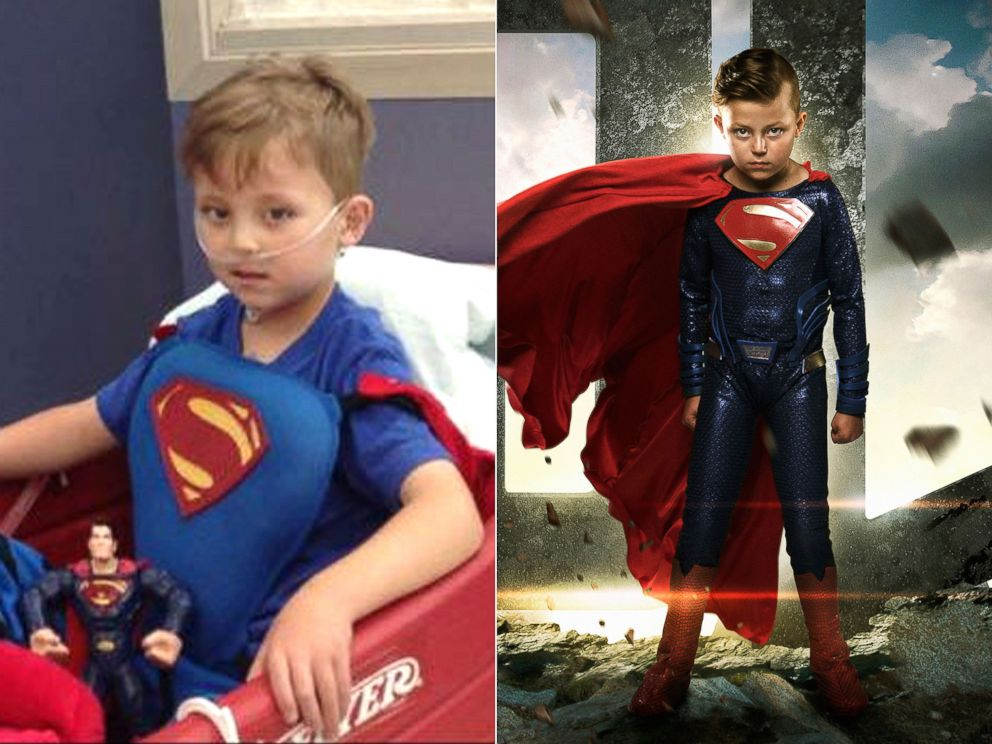 PHOTO: Teagan Pettit was born with only half a heart, a condition known as hypoplastic left heart syndrome. | Teagan Pettit as Superman.
