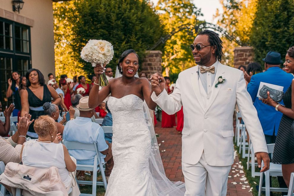 PHOTO: Tearra and Bryant Suber wed in front of 230 guests on Sept. 4, 2016.