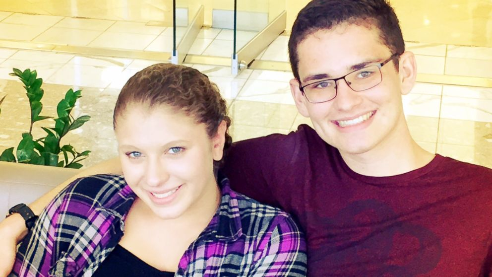 """Jakob """"JJ"""" Jasin, 17, will be escorting Grace Haddad, 16, to the dance at Rock Ridge High School in Ashburn, Virginia, after the two were introduced as hospital patients in 2001."""