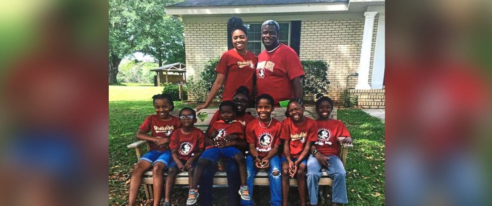 PHOTO: DaShoan and Sofia Olds of Florida, took seven siblings into their home after seeing their story on a local news channel.