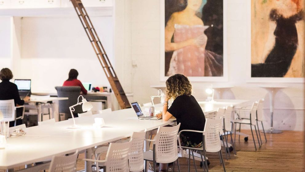The Riveter is a co-working space for women to go to work, meet, share resources and learn from each other.