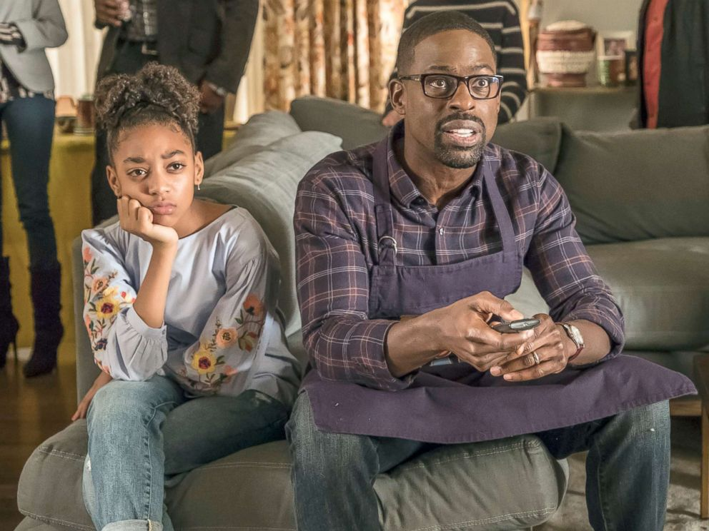PHOTO: Eris Baker as Tess Pearson, Sterling K. Brown as Randall Pearson in the TV show, This is Us.