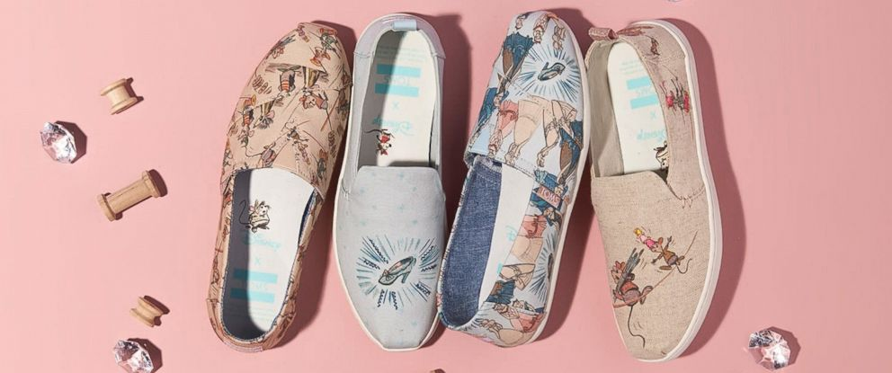 60ecae251d8 PHOTO  Disney and Toms have released a Cinderella collection featuring shoes  and glasses.