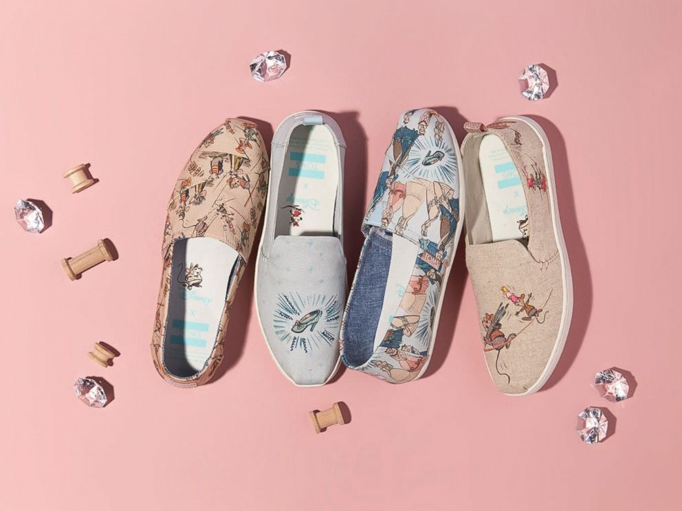 PHOTO: Disney and Toms have released a Cinderella collection featuring shoes and glasses.