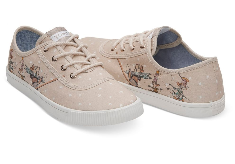 PHOTO: These Disney and Toms taupe Gus and Jaq womens sneakers are selling for $69.95.