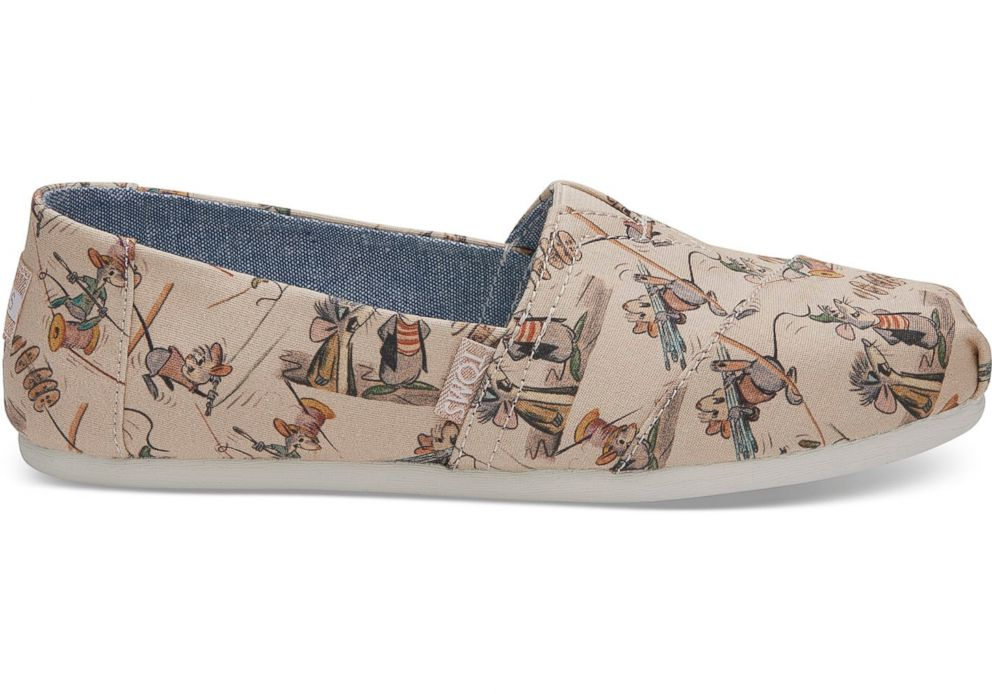 PHOTO: These Disney and Toms taupe Gus and Jaq womens slip on shoes are selling for $64.95.
