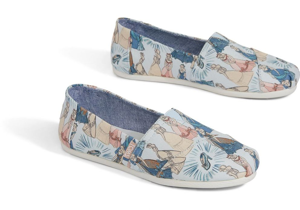 PHOTO: These Disney and Toms Blue Cinderella womens shoes are selling for $64.95.