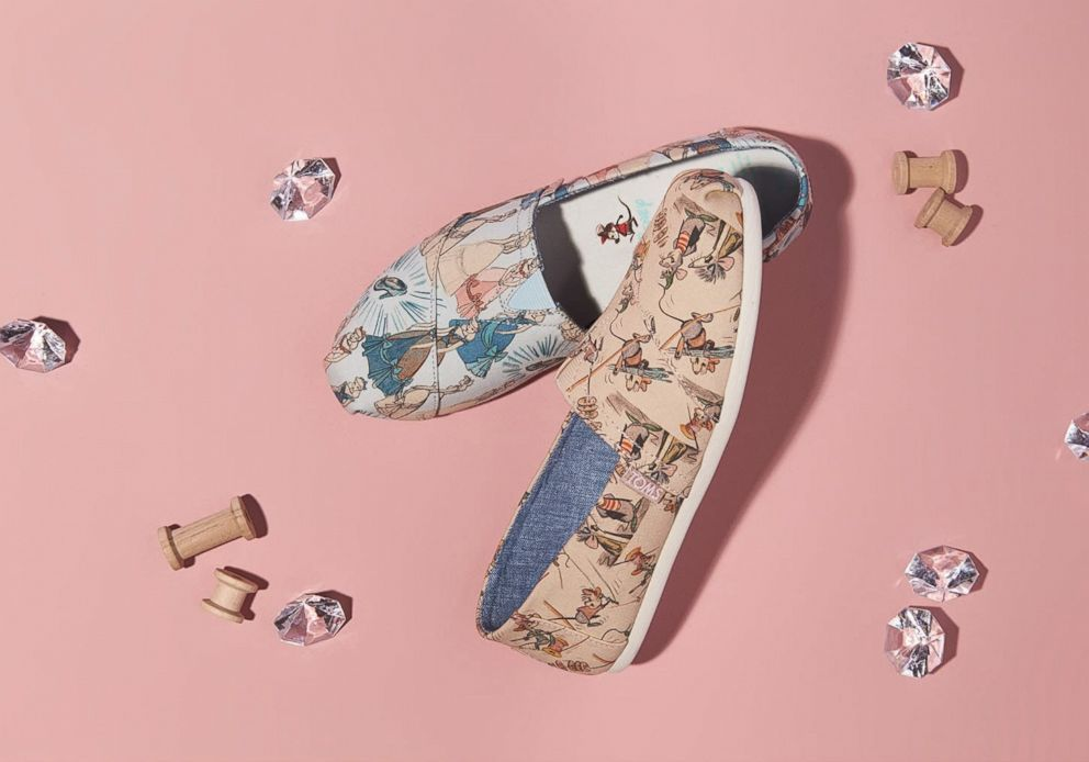 PHOTO: Disney and Toms have released a collection featuring Cinderella and her best friends Gus and Jaq.